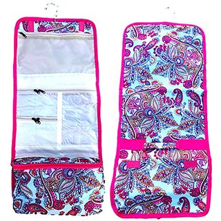 Large Pink Blue Paisley Hanging Cosmetic Toiletry Bag Case Shower Caddy TravelNut Last Minute Unique Cool Birthday Stock