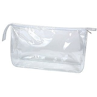 Clear Vinyl Rectangular Travel/Cosmetic Bag
