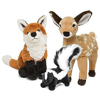 Maplelea Wildlife Pack, Stuffed Animal Set for 18 Inch Dolls
