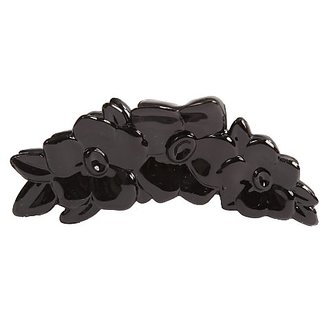 Caravan French Rose Bush Hair Claw, Black, Small, .65 Ounce