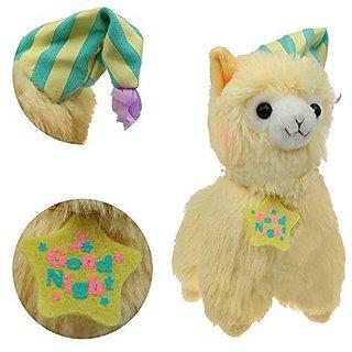 KSB 7.3 Yellow Good Night Plush Alpaca,100% Plush Stuffed Animals Doll Toys,Best Birthday Gifts For The Children Kids(Ni