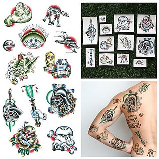 Tattify Traditional Star Wars Temporary Tattoos - Lightspeed (Set of 12)