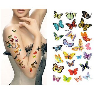 Supperb Temporary Tattoos - Lots of Butterflies