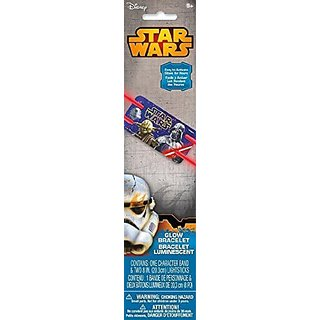 Star Wars Glow Bracelet Light Stick (6 - pack), Glow in the Dark Party Light Sticks