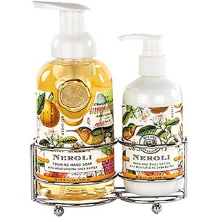 Michel Design Works Foaming Hand Soap and Lotion Caddy Gift Set, Neroli