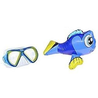 Splash n Swim Ride On Angel Fish Inflatable Toy and Swim Mask Set (2pcs)