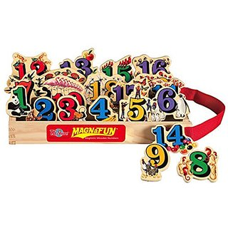 T.S. Shure Numbers Wooden Magnets 20 Piece MagnaFun Set