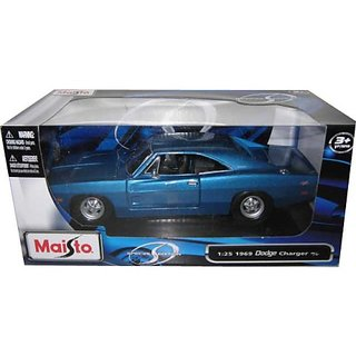 1969 Dodge Charger R-T Blue 1:25 Diecast Model Car