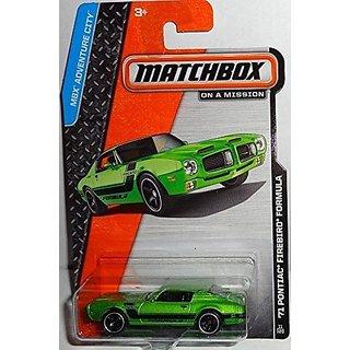 2014 Matchbox MBX Adventure City 71 Pontiac Firebird Formula - Green