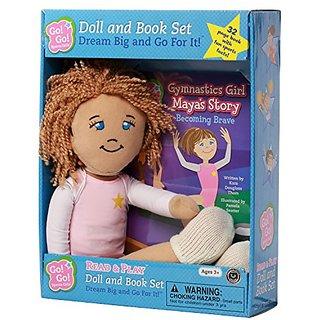 Go Go Sports Girls Gymnastics Maya Plush Doll & Book