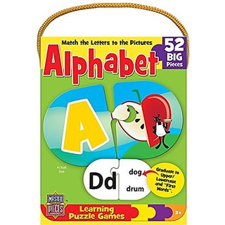 MasterPieces Mini Learning Games Alphabet 52-Piece Matching Puzzle