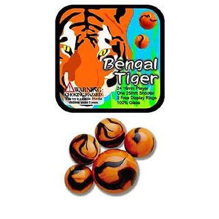 Glass Mega Marbles Bengal Tiger Game Net Set (25 Piece)