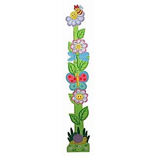 Fantasy Fields - Magic Garden Thematic Kids Wooden Growth Chart Imagination Inspiring Hand Painted Details Non-Toxic, Le