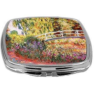 Rikki Knight Compact Mirror, Claude Monet Art Le Bassin Aux Nympheas, 3 Ounce