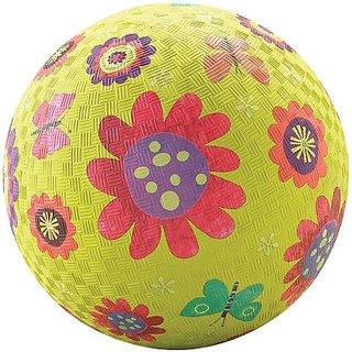 Crocodile Creek Flower Garden Playground Ball, Green, 5