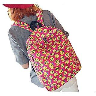 Emoji Kids Backpack,Cherioll Casual Funny Emoji Print Smile Face Schoolbag Backpacks (One size, Emoji Rose)