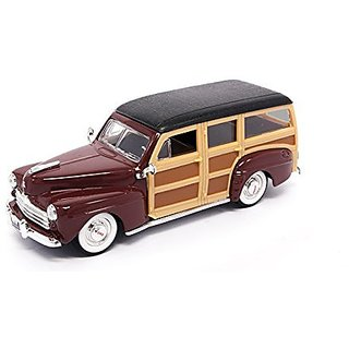 1948 Ford Woody, Burgundy - Yatming 94251 - 1 43 Scale Diecast Model Toy Car