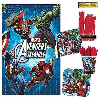 Avengers Party Pack - Includes Plates, Cups, Napkins and Tablecover (16 Guests)
