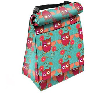 Home Essentials Lunch Tote Roll Down Pink Owl