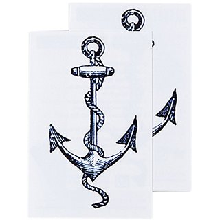 Tattly Temporary Tattoos, Cartoina Anchor, 0.1 Ounce