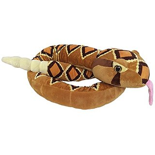 The Petting Zoo Plush Tropical Rattlesnake - 54 Inches