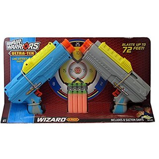 Air Warriors Ultra-Tek Wizard 2-pack dart blaster guns by Buzz Bee Toys