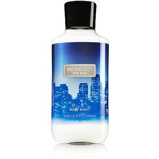 Bath & Body Works, Signature Collection Body Lotion, Midnight For Men, 8 Ounce