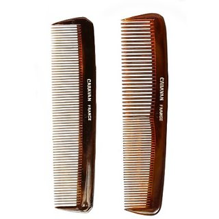 Caravan Tortoise Set Of 2 Shell Comb, Pocket Teeth