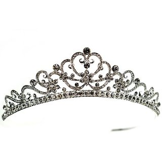 SparklyCrystal Floral Bridal Wedding Prom Crystal Tiara 12538