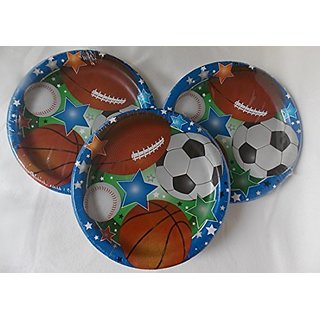 Sports Themes Birthday Party Lunch Dinner Paper Plates