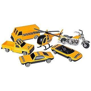 6 pc Construction Vehicle Die Cast Metal Play Set