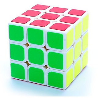 3x3x3 Congs Design YueYing White Speed Puzzle Cube Twisty By Moyu