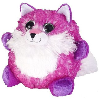 Wild Republic Fuzzball Pink Fox Plush