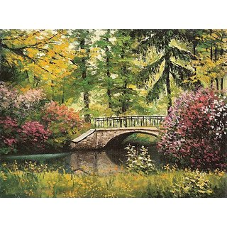 Tranquillity - From an orginal painted with the foot by Stanislaw Kmiecik [1000 Piece Puzzle]