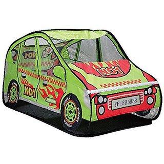Zewik Kids Pop-up Play Tent Children Cartoon Sports Car Canopy Kids Adventure Station Christmas Gift