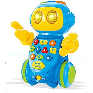 Wishtime Toddlers Multi-function Intelligent Robot Early Learning and Education Toys for kids