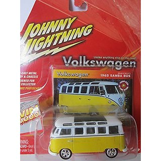 Johnny Lightning Volkswagen II Release 1 1965 Samba Bus White Yellow #3
