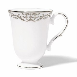 Lenox Coronet Platinum Bone China Accent Mug