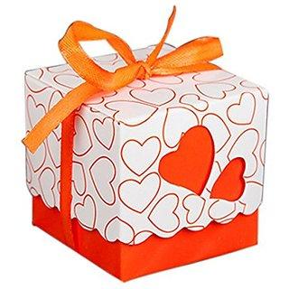KAIL DIY Love Heart Candy Gift Boxes Wedding Bridal Favor Wedding Party Decor Kit 50pcs orange