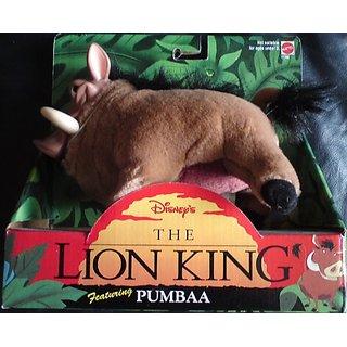 Disneys Lion King Plush Pumbaa by Mattel