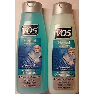 Alberto VO5 Herbal Escapes Ocean Refresh Shampoo and Conditioner Set - One 12.5 Fl Oz Shampoo and One 12.5 Fl Oz Conditi