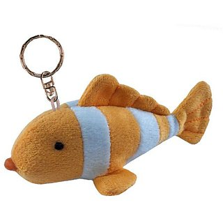 Puzzled Clown Fish Plush Keychain
