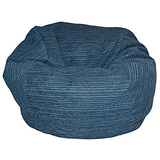 Ahh! Products Chenille Stripe Lagoon Washable Bean Bag Chair, Large