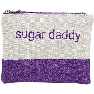Miamica Canvas Glitter Pouch Sugar Daddy, Purple, One Size
