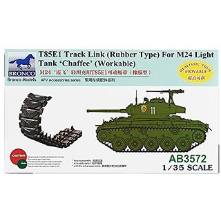 Bronco Models T85E1 Rubber Track Link for M24 Workable Light Tank