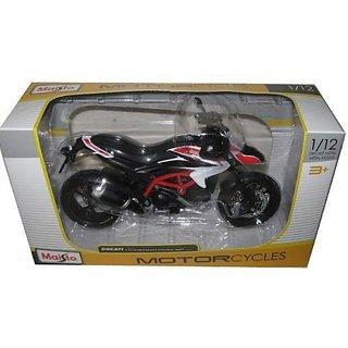 2013 Ducati Hypermotard SP White Motorcycle Model 1 12 by Maisto 13015