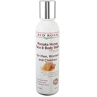 Manuka Honey Face and Body Wash - (8 oz) by Red Rock Organics