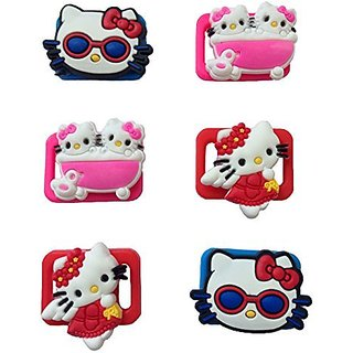 Hello Kitty Shoelace Decoration Clips 6 Pcs
