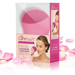 Care Touch Silicone Sonic Facial Cleansing and Massager Brush, USB Charging Cord and USB Charging Plug Included