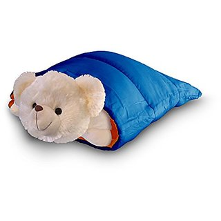Snugglebags - Blue and orange reversible mini sleeping bag for Pillow Pets, Happy Nappers, American Girl, Hello Kitty, a